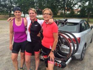 Conny, Jenny und Sabine während ihres Trainings in Lauenau
